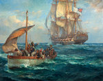 The Loyal Men of the 'Bounty' by Bernard Finnigan Gribble - print