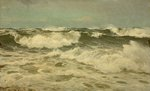 A White Gale off the Coast of Cornwall by Lauritz Holst - print