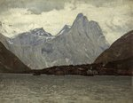 Norwegian Fishing Village by Lauritz Holst - print
