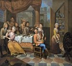 Banqueting Scene by Peter Jacob Horemans - print