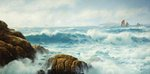 A Breezy Day, Cornwall by David James - print