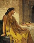 Cleopatra and the Asp by Edward John Poynter - print