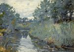 Christchurch River Scene by Frank Richards - print