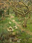 In a Cornish Orchard by Frank Richards - print