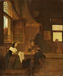 A Dutch Interior in 1849 by Hubertus van Hove - print