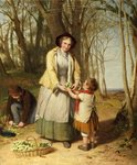 Gathering Primroses by William Frederick Witherington - print