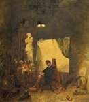 The Studio by Alfred Joseph Woolmer - print