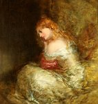 Girl in White by Alfred Joseph Woolmer - print
