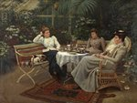 Tea in the Conservatory by Harry E.J. Browne - print