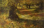 Sunlit Woodland Path by William Morrison Wyllie - print