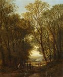 Lane near Enford Wilts by William Pitt - print