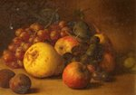 Still Life with Pear Apples Grapes and Plums by George Walter Harris - print