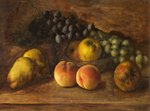 Still Life with Fruit and a Glass Bowl by George Walter Harris - print
