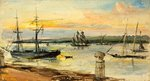 Gravesend - Sunset by William W. Warren - print