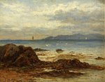 Coastal Shipping from a Rocky Shore by James Henderson - print