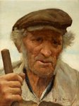 A Normandy Peasant by Edwin Harris - print