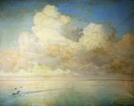 Seagulls on a Calm Sea by William Peter Watson - print