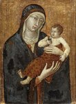 Madonna and Child by Siennese School - print