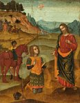 Christ Appearing to St. Paul by Northern Italian School - print