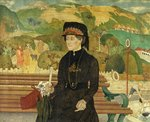 Miss Chaseley on the Undercliff by Maxwell Ashby Armfield - print