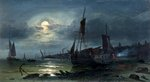 Moonrise on the Medway by William Callow - print