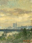 Houses of Parliament by Jean Josephe Constant - print