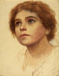 Girl's Head by Arthur de Tivoli - print