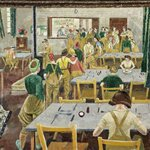 Womens Land Army Hostel by Evelyn Dunbar - print