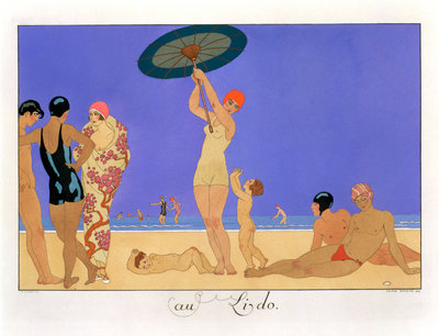 At the Lido Poster Art Print by Henri Reidel