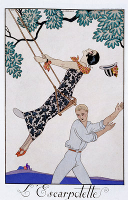The Swing Poster Art Print by Georges Barbier