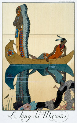 The Length of the Missouri Poster Art Print by Georges Barbier