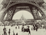 Beneath the Eiffel Tower Poster Art Print by Adolphe Giraudon