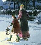 King Wenceslas Poster Art Print by Janet and Anne Johnstone
