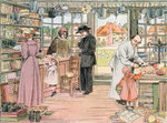 The General Store, 1899. From The Book of Shops Poster Art Print by American School