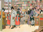 The Book Shop Poster Art Print by American School