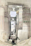 View through the Hall of Columns, Karnak Poster Art Print by William James Muller