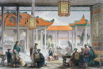 Jugglers Exhibiting in the Court of a Mandarin's Palace Poster Art Print by Achille Deveria