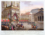 Sacred Festival and Coronation of their Imperial Majesties Poster Art Print by Jacques Francois Joseph Swebach