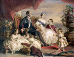 Queen Victoria and Prince Albert with Five of their Children Poster Art Print by Sir John Everett Millais