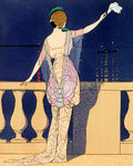 Farewell at Night Poster Art Print by Georges Barbier