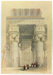 View from under the portico of the Temple at Denderah Poster Art Print by William James Muller