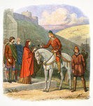 Edward the Martyr arriving at Corfe Poster Art Print by James E. Doyle