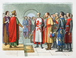 King Henry III and his Parliament Poster Art Print by English School