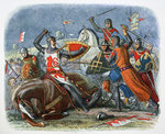 Death of Simon de Montfort, Battle of Evesham Poster Art Print by Graham Coton