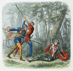 Death of Warwick the Kingmaker, Battle of Barnet Poster Art Print by Indian School