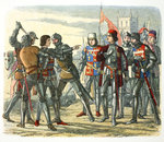 Murder of Prince Edward after his capture by King Edward IV Poster Art Print by Mattia Preti
