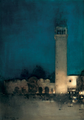 The Blue Night, Venice, 1897 Poster Art Print by Arthur Melville