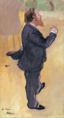 Fine Art Print of Carlo Pelligrini 1876-7 by Edgar Degas