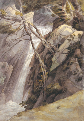Fine Art Print of Waterfall near Ambleside, 1786 by Francis Towne