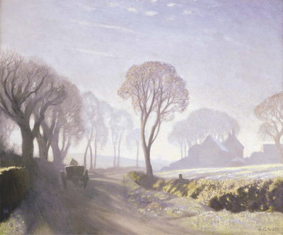 The Road, Winter Morning, 1923 Poster Art Print by Sir George Clausen